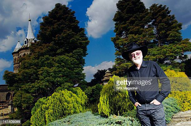 Portrait of English novelist Sir Terry Pratchett at the Pinewood Studios on August 1 2007 in Buckinghamshire