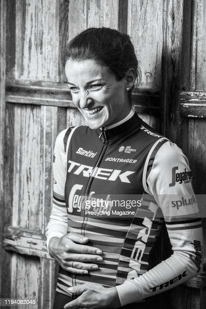 Portrait of English professional track and road racing cyclist Lizzie Deignan, photographed in Harrogate, North Yorkshire, on June 17, 2019.