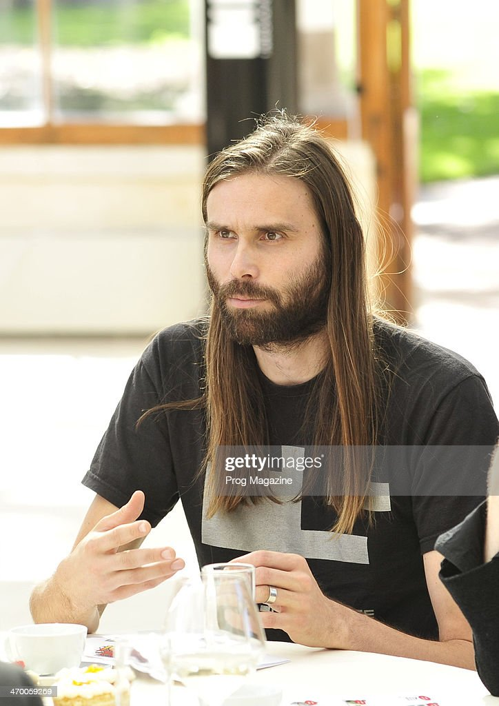 Portrait of English rock musician James Monteith, photographed as part of a roundtable discussion on contemporary progressive rock music, on September 4, 2012.