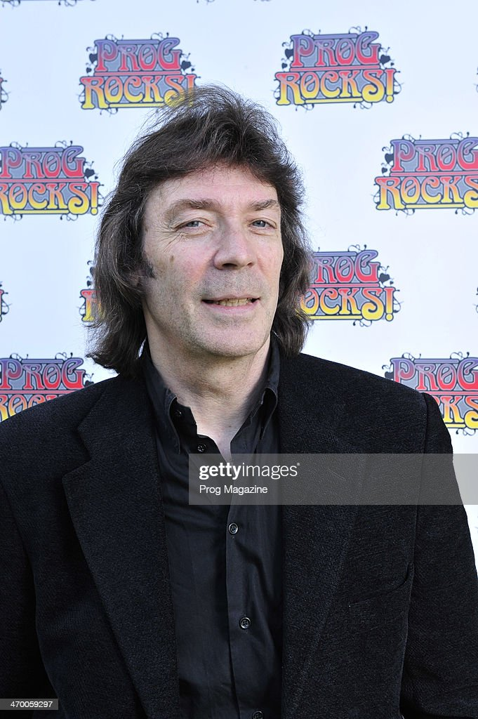 Portrait of English rock musician Steve Hackett, photographed as part of a roundtable discussion on contemporary progressive rock music, on September 4, 2012.