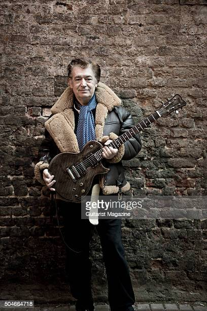 Portrait of English session musician Chris Spedding photographed in London on January 29 2015 Spedding is best known as a rock and jazz guitarist...