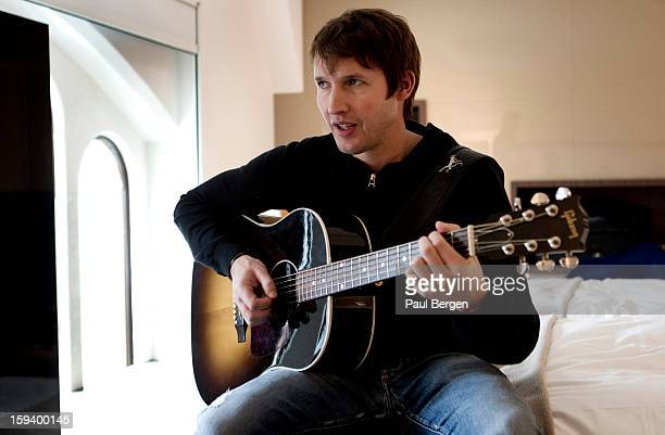 Portrait of English singersongwriter James Blunt in a hotel room in Amsterdam Netherlands 13 November 2012