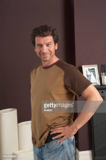 Portrait of English television presenter Nick Knowles photographed at home in London in 2009 Job 75996 Ref BON Exclusive World Rights Only