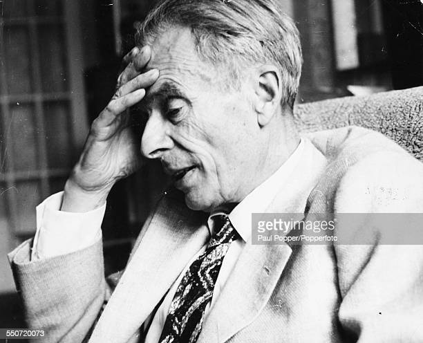 Portrait of English writer and philosopher Aldous Huxley pictured on 26th June 1961