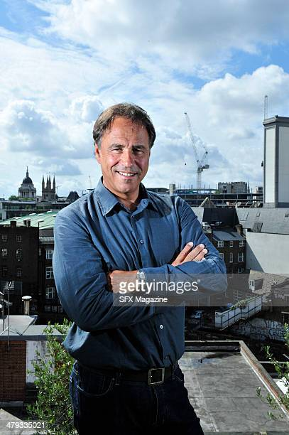 Portrait of English writer Anthony Horowitz photographed on a London rooftop on August 13 2012 Horowitz is best known as a novelist and screenwriter...