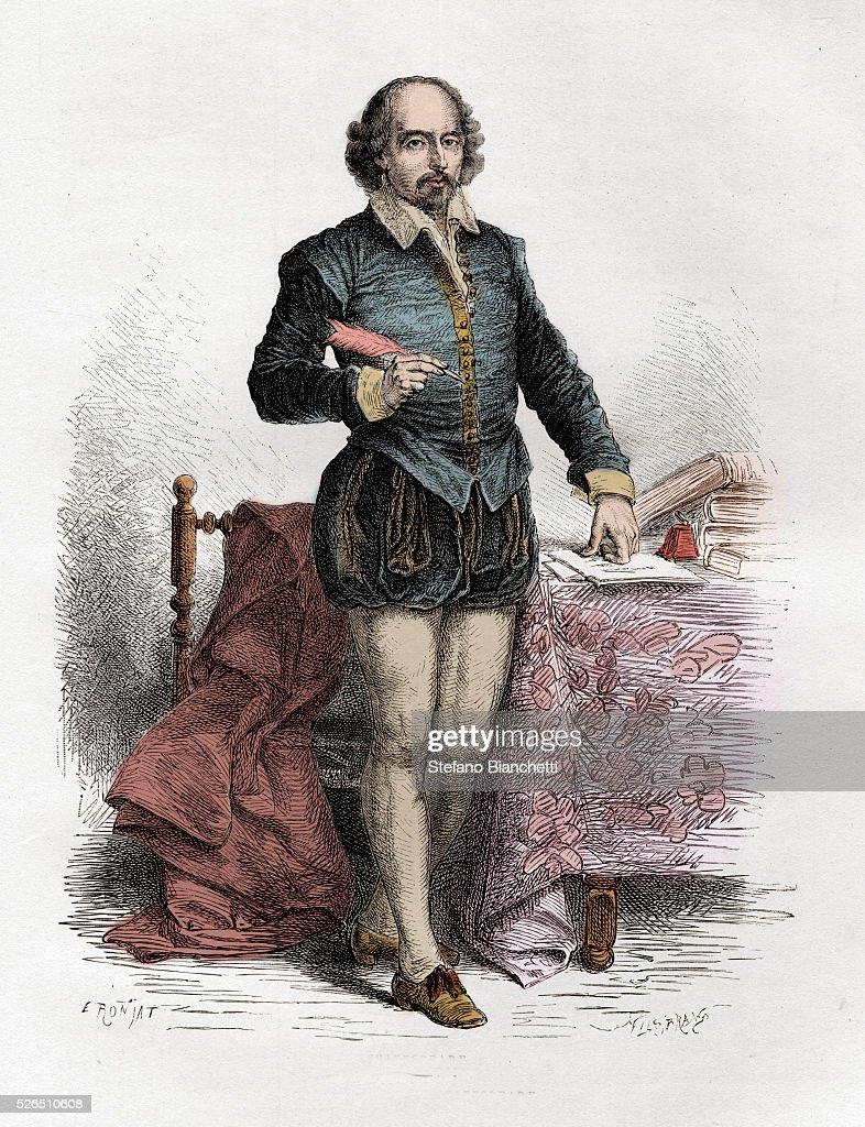 Portrait of English writer William Shakespeare : News Photo