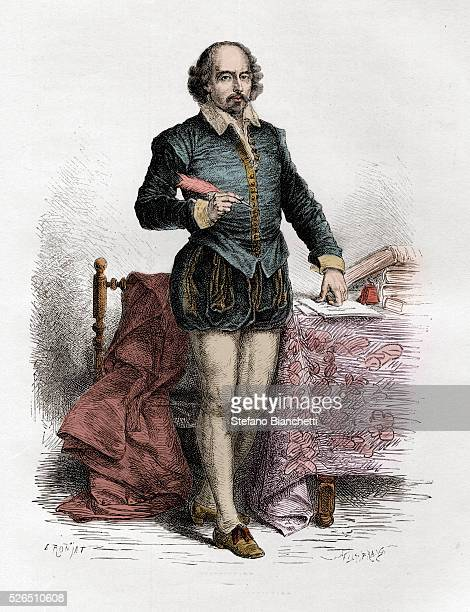 Portrait of English writer William Shakespeare