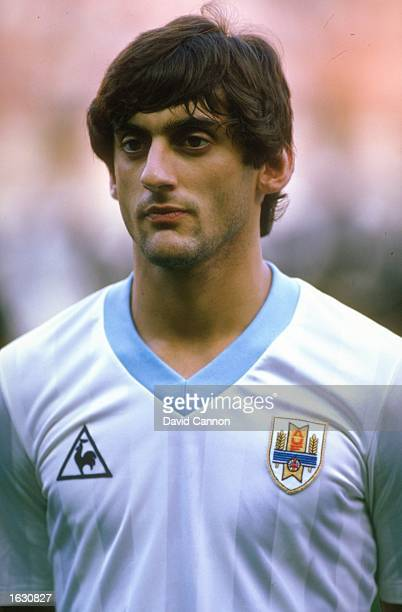 Portrait of Enzo Francescoli of Uruguay before an Intercontinental Trophy match against France in France France won the match 20 Mandatory Credit...