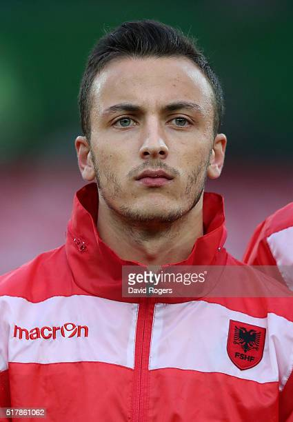 A portrait of Ergys Kace of Albania during the international friendly match between Austria and Albania at the Ernst Happel Stadium on March 26 2016...