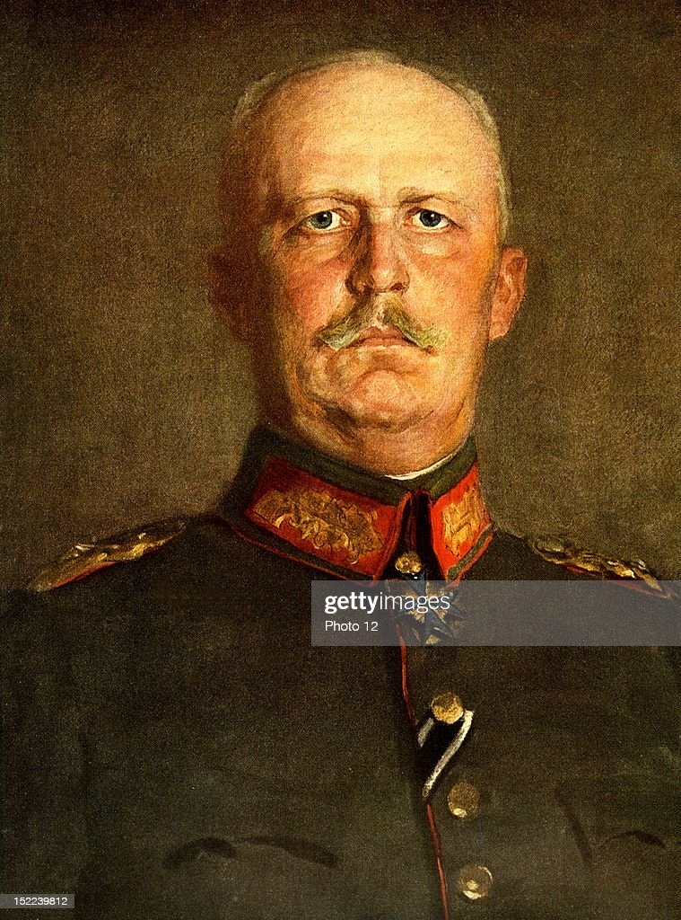Portrait of Erich Ludendorff (1865-1937), general who lead the German Army during World War I.