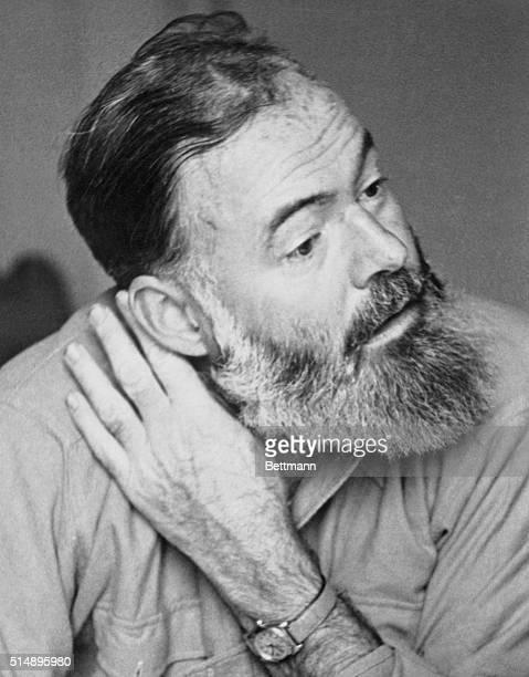Portrait of Ernest Hemingway. World famous author.