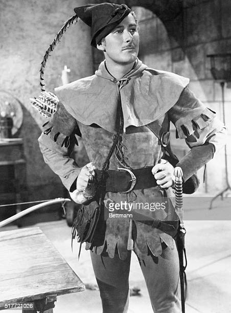 Portrait of Errol Flynn from the 1938 film The Adventures of Robin Hood