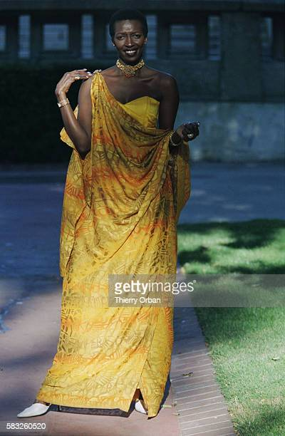 Portrait of Esther Kamatari the Burundian Princess visiting France