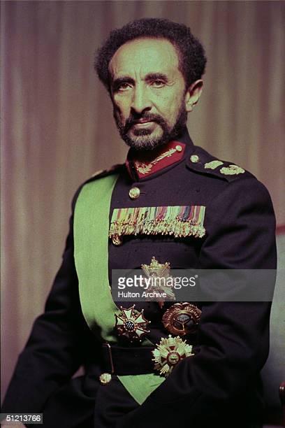 Portrait of Ethiopian emperor Haile Selassie I 1950s