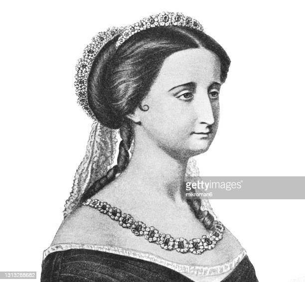 portrait of eugenie de montijo empress of the french - queen royal person stock pictures, royalty-free photos & images
