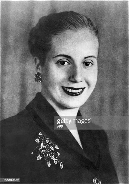 Portrait of Eva Peron taken 01 May 1951 in Buenos Aires Born in 1919 and known as Evita the second wife of Juan Peron Argentine president she was a...