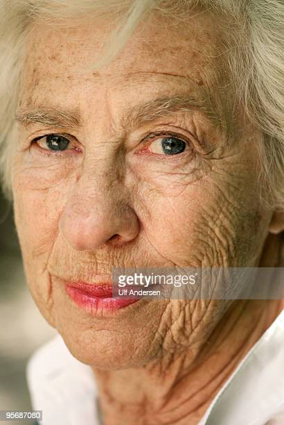 Portrait of Eva Schloss writer holocaust survivor Anne Frank's step sister during a Portrait Session held on June 19 2009 in Paris France