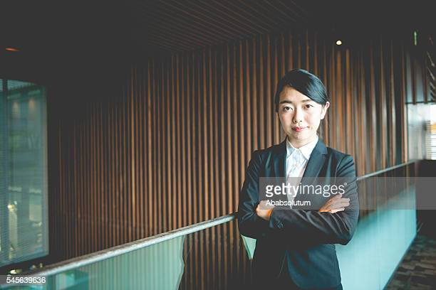 Portrait of Executive Female Japanese Businesswoman, Kyoto, Japan