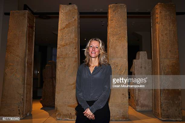 A portrait of Exhibition manager Drs Leonie van Esser as she poses in the permanent Egyptian collection and also part of the 'Queens of the Nile'...