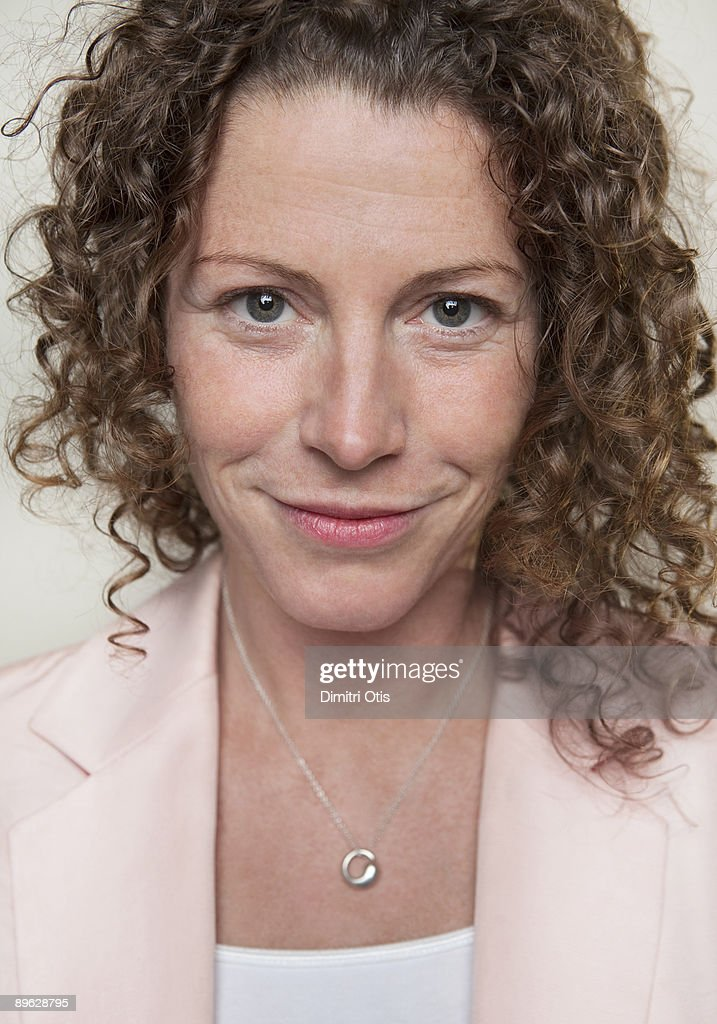 Portrait of expressive middle aged woman : Stock Photo