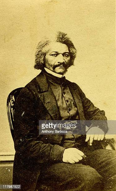 Portrait of exslave and American abolitionist Frederick Douglass as a young man mid nineteenth century He became the first black man to be received...