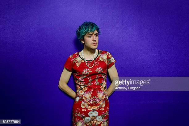 Portrait of Ezra Furman backstage at Pickathon Festival, Happy Valley, Oregon, United States on 7th August, 2016.