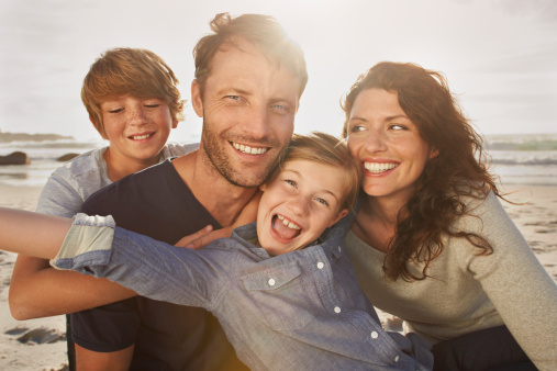 Portrait of family outdoors, close up - gettyimageskorea