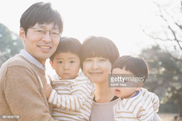 portrait of family - baby human age stock pictures, royalty-free photos & images
