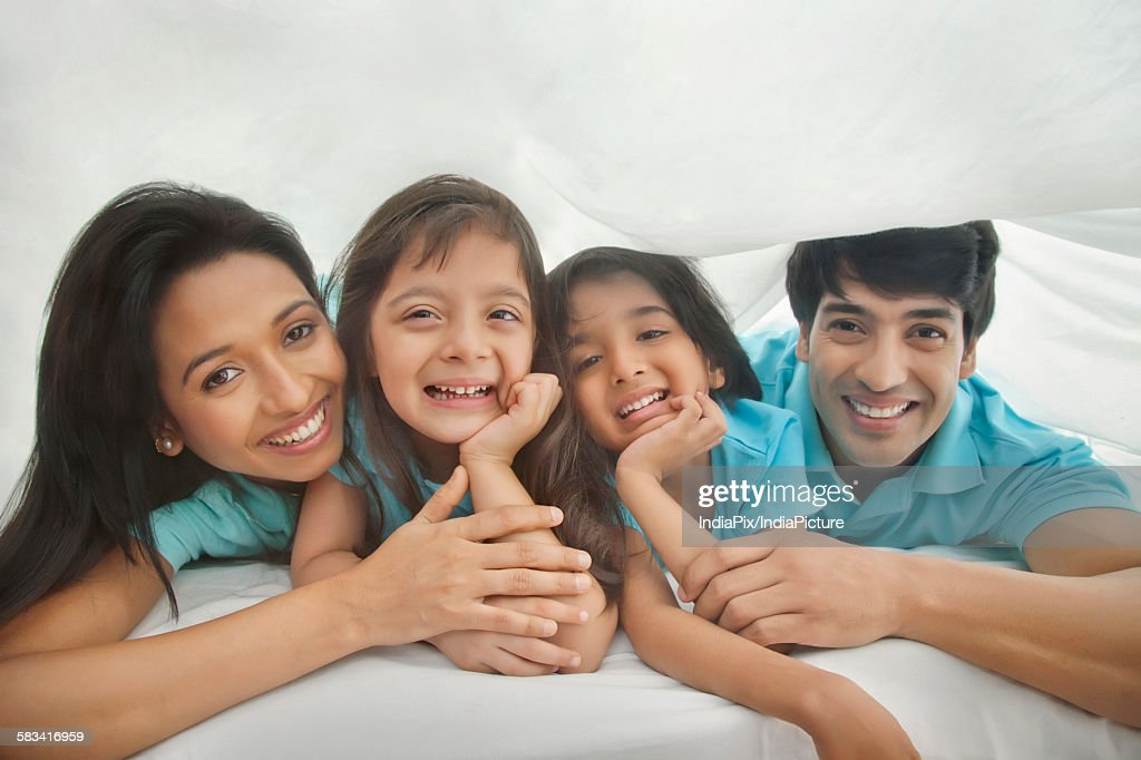 Portrait of family smiling : Stock Photo