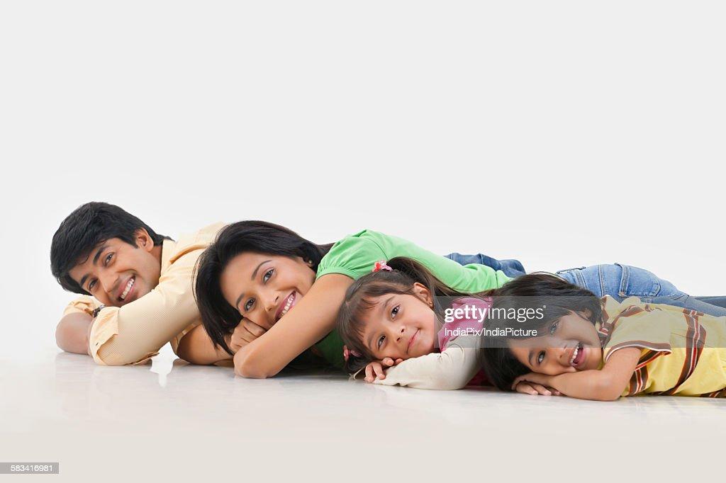 Portrait of family smiling : Stock Photo