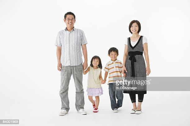 Portrait of family, studio shot