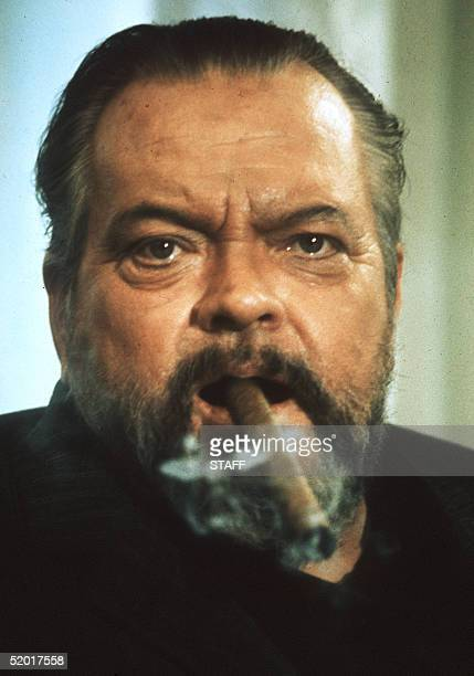1973 portrait of famous American film actor and director Orson Welles Welles who made his actor debut in Dublin became a radio producer in USA and...