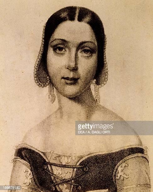 Portrait of Fanny Goldberg soprano interpreter of Caterina Cornaro by Gaetano Donizetti Bergamo Civico Museo Donizettiano