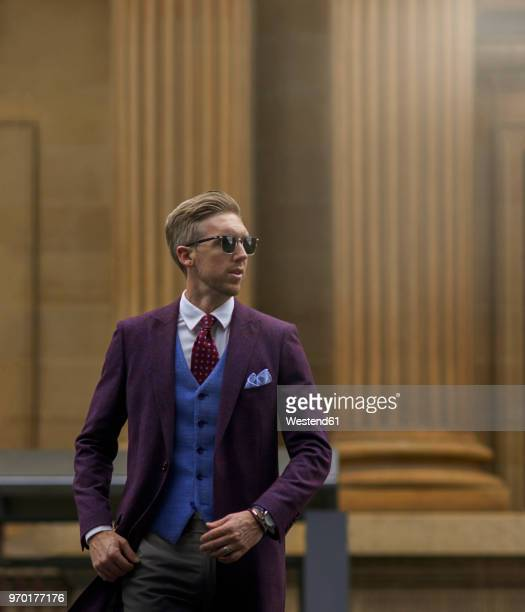 portrait of fashion blogger steve tilbrook - men fashion stock photos and pictures