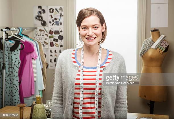 Portrait of fashion designer in studio.