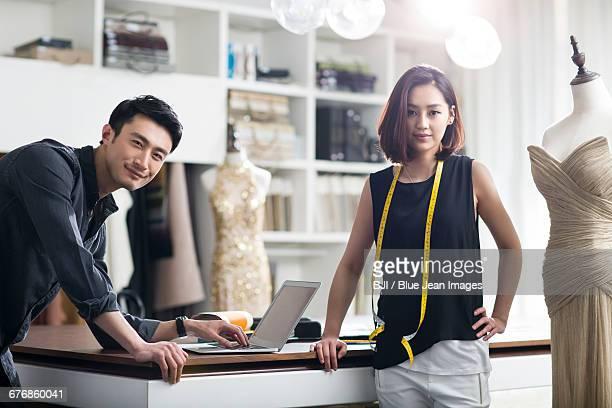 Portrait of fashion designers