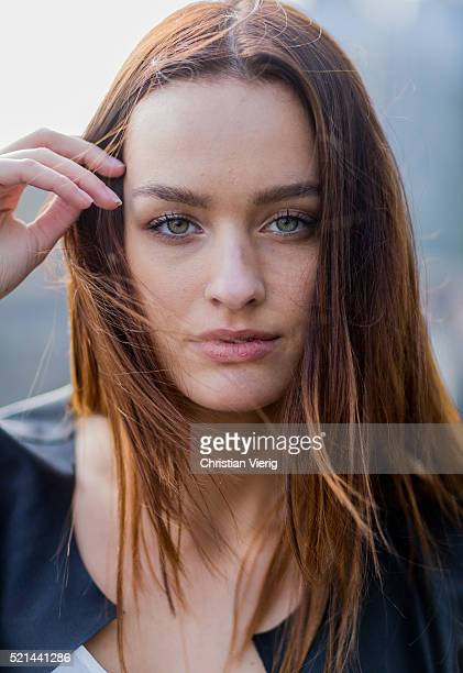 Portrait of fashion model Jueli Mery April 14, 2016 in Cologne, Germany
