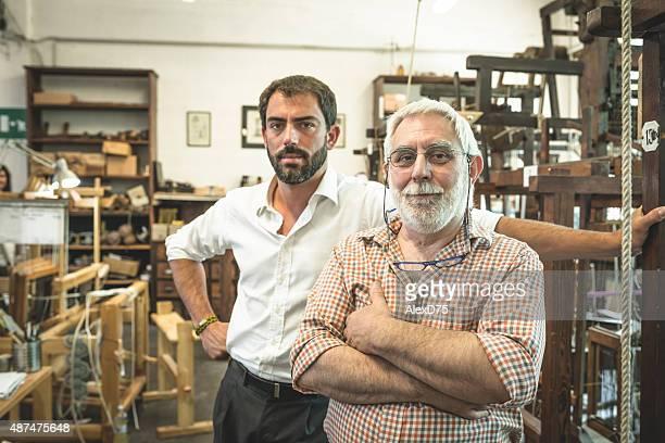 Retrato del Padre e hijo empresario