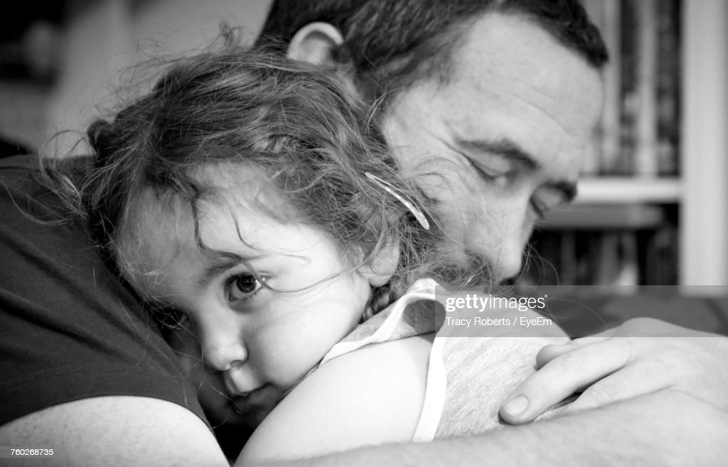 Portrait Of Father With Baby : Stock Photo