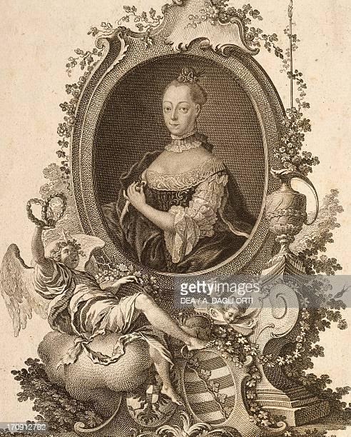 Portrait of Federica Caroline of Saxe-Coburg-Saalfeld , Princess of Saxe-Coburg-Saalfeld and last Margravine of Brandenburg-Ansbach and Bayreuth....