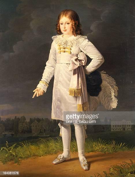 Portrait of Federico Napoleone Prince Baciocchi son of Felice Pasquale Baciocchi and Elisa Bonaparte Painting by Barbara Krafft olio on canvas cm 170...