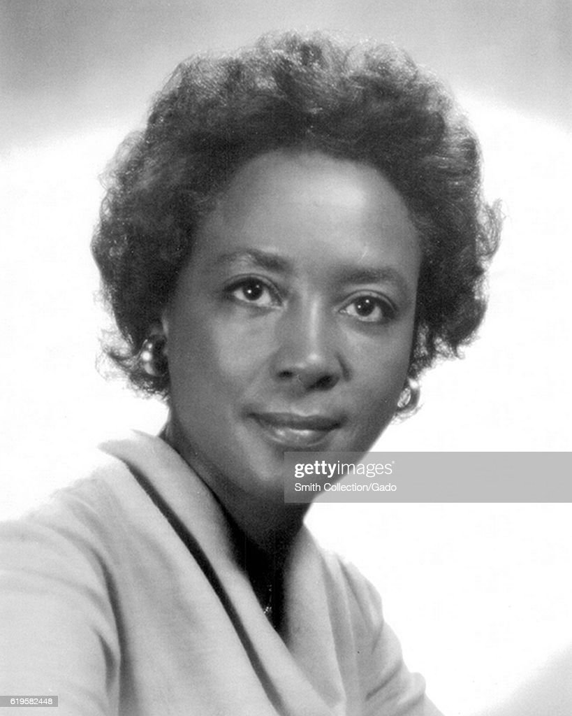 Portrait of female African-American computer scientist, mathematician, and space scientist Annie Easley, 1950. Image courtesy NASA. (Photo via Smith Collection/Gado/Getty Images).
