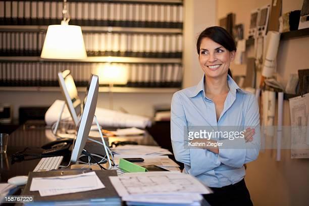 portrait of female architect, smiling