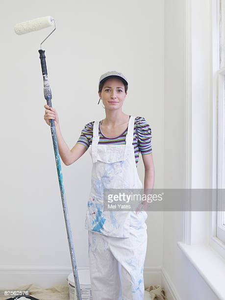 Portrait of  female decorator