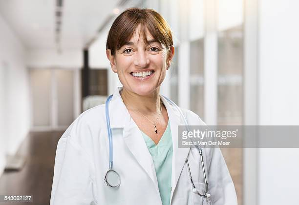 Portrait of female doctor in hospital