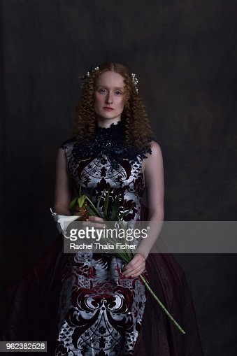 Portrait of female in style of classic renaissance style painting