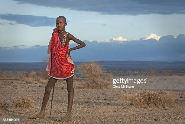 Portrait of Female Maasai Woman in the Bush - Kenya