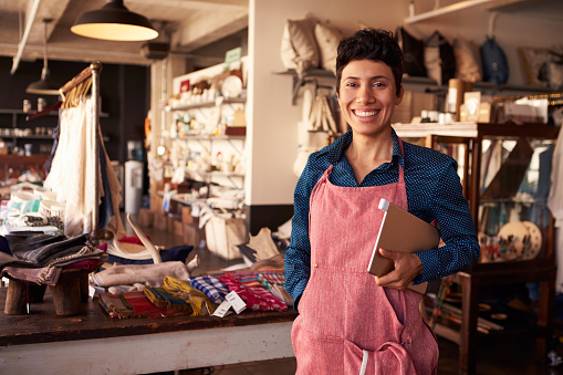 Portrait Of Female Owner Of Gift Store With Digital Tablet 508314752