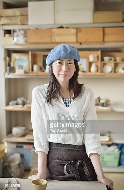Portrait of female potter