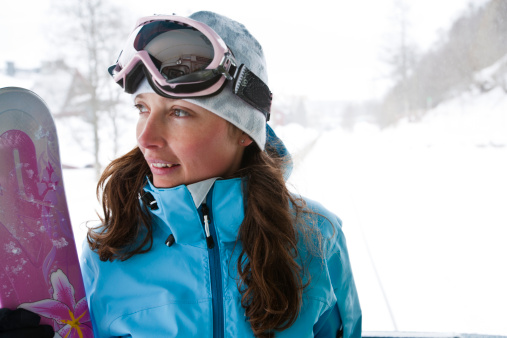 Portrait of female snowboarder - gettyimageskorea